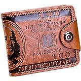 Sfit Homme Portefeuille Court Porte-monnaie Impression Multi-cartes Sac à  Main Portefeuille en 8faaad99715