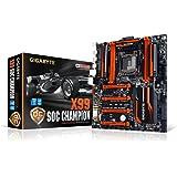Gigabyte GA-X99-SOC Champion Scheda Madre Intel X99, Socket 2011v3, Nero/Rosso