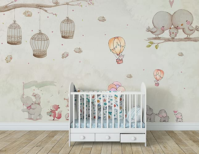 amazon com jungle wallpaper for nursery decor removable fabric wallimage unavailable