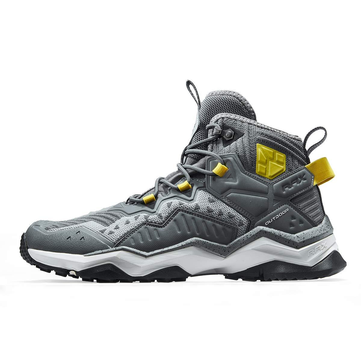 RAX Men's Jungle Wolf Waterproof Hiking Boot Camping Backpacking Shoe 12 US Grey by RAX