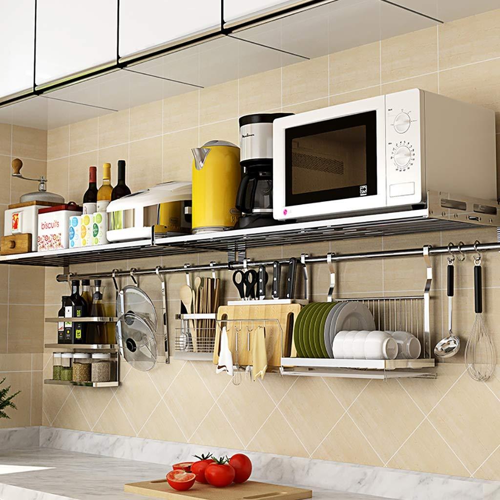 Estantes y soportes para ollas y sartenes Estante de cocina Muro ...