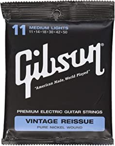Gibson Vintage Reissue Electric Guitar Strings, Medium 11-50