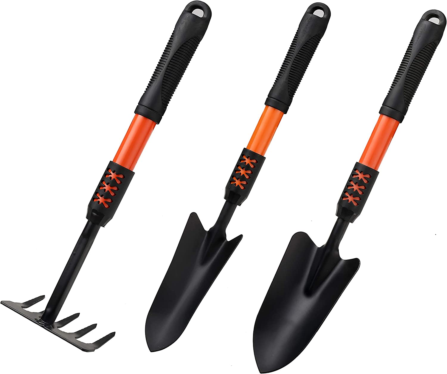 Lanteng 11 Blue Rattan Garden Tool Set Insecticide, 3-Piece Stainless Steel Heavy, b
