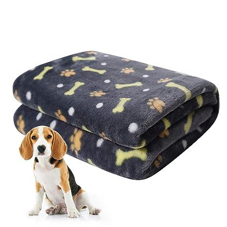 softan Manta para Mascotas, Manta para Perros esponjosa para Perros pequeños, medianos y Grandes, Manta de Cachorro Lavable para Perros Cama, 80 x ...