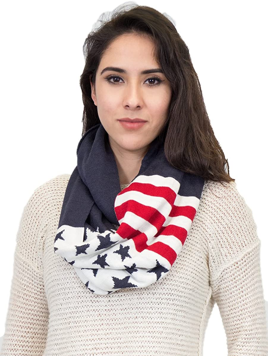 Flag Infinity Knit Scarf