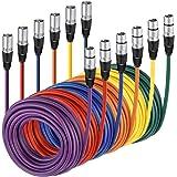 Neewer XLR Macho a Hembra de XLR Cables de Color Micrófono de Goma blindados Cable del Remiendo Cables de Equilibrada…