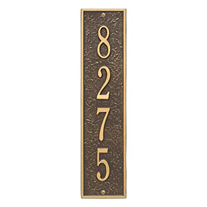 """Whitehall 15/"""" Large Square Personalized Plaque Address Marker 17 Colors No Rust"""