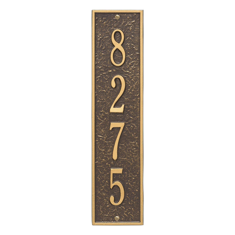 Whitehall Custom 1 Line Delaware Vertical Address Plaque 17.25'' H x 4.2'' W