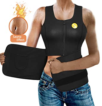 55c5e92e3a Body Shaper Slimming Sauna Vest for Women Hot Sweat Neoprene Weight Loss  Workout Tank Top Shirt