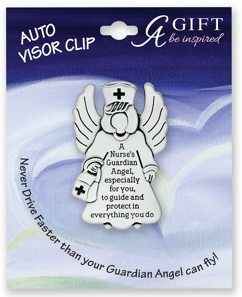 NURSE - GUARDIAN Angel - Auto VISOR CLIP - RN LPN CNA Nursing STUDENT Protect - Inspirational GIFT ca