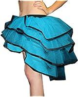 Kid's/ Children's Neon UV Bustle Peacock Net Layers Tutu Skirt