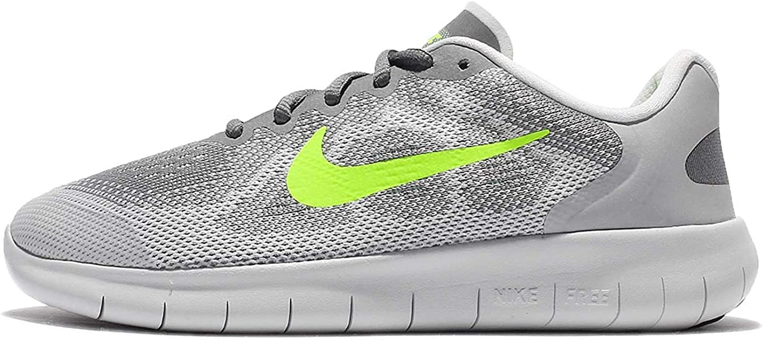 Nike Kids Free Rn 2017 Gs Running Shoe 6 Big Kid M Cool Grey Volt Wolf Grey Electro Green Running