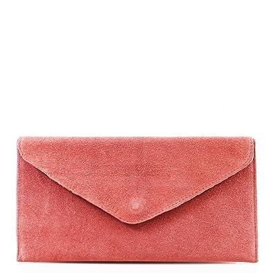 c81fe758d8d5 Womens Ladies Italian genuine suede Clutch Evening Bag Party Bag Wrist Bag  Shoulder Bag Underarm Bag