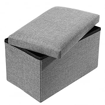 0a2ece9dfb Actnow 収納スツール 収納ボックス 座椅子 リビングチェア 足置き 玄関 簡易 家具 小物