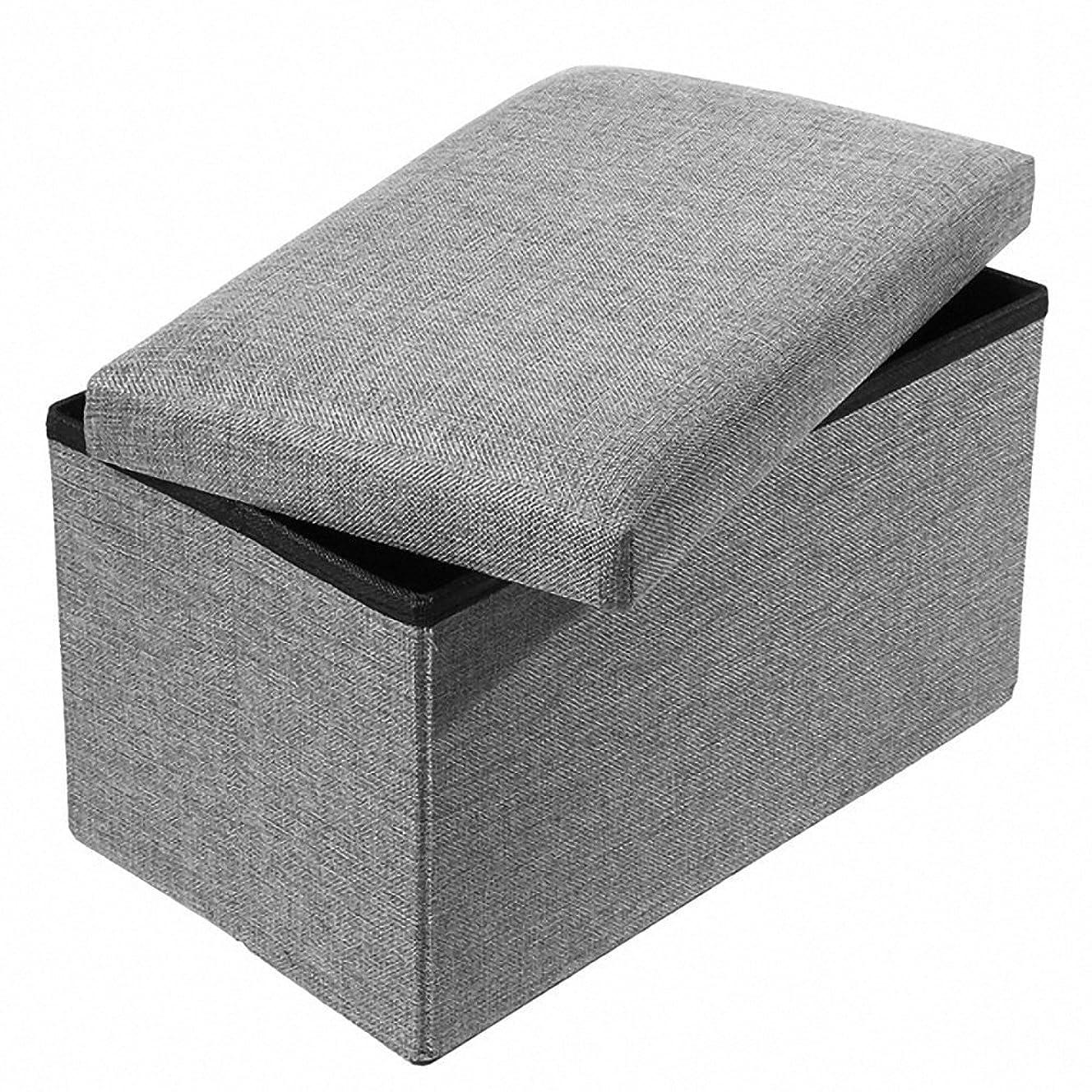 プレゼント立方体政権Snifu 収納スツール 収納ボック 折りたたみ 小物整理 おもちゃく箱 収納ベンチ?椅子 スペース活用 耐荷重100kg グレー