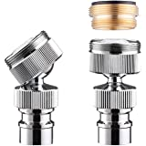 Dishwasher Faucet Adapter, Dishwasher Snap Adapter, 55/64-27 Thread with Small Diameter Nipple, Chrome Plated, Brass
