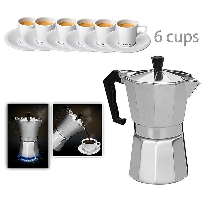 C & W hornillo, cafetera 6 tazas espresso maker: Amazon.es ...