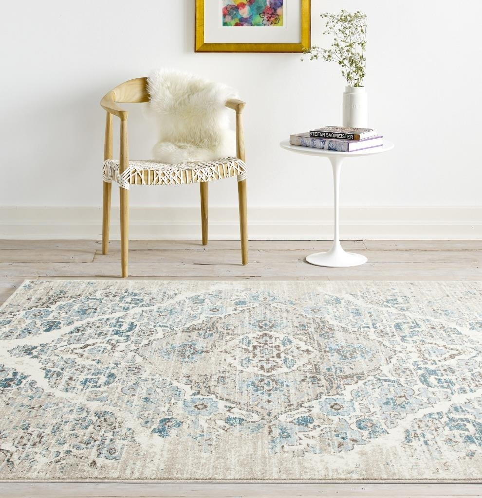 Amazon 4620 Distressed Cream 20x30 Area Rug Carpet Large New