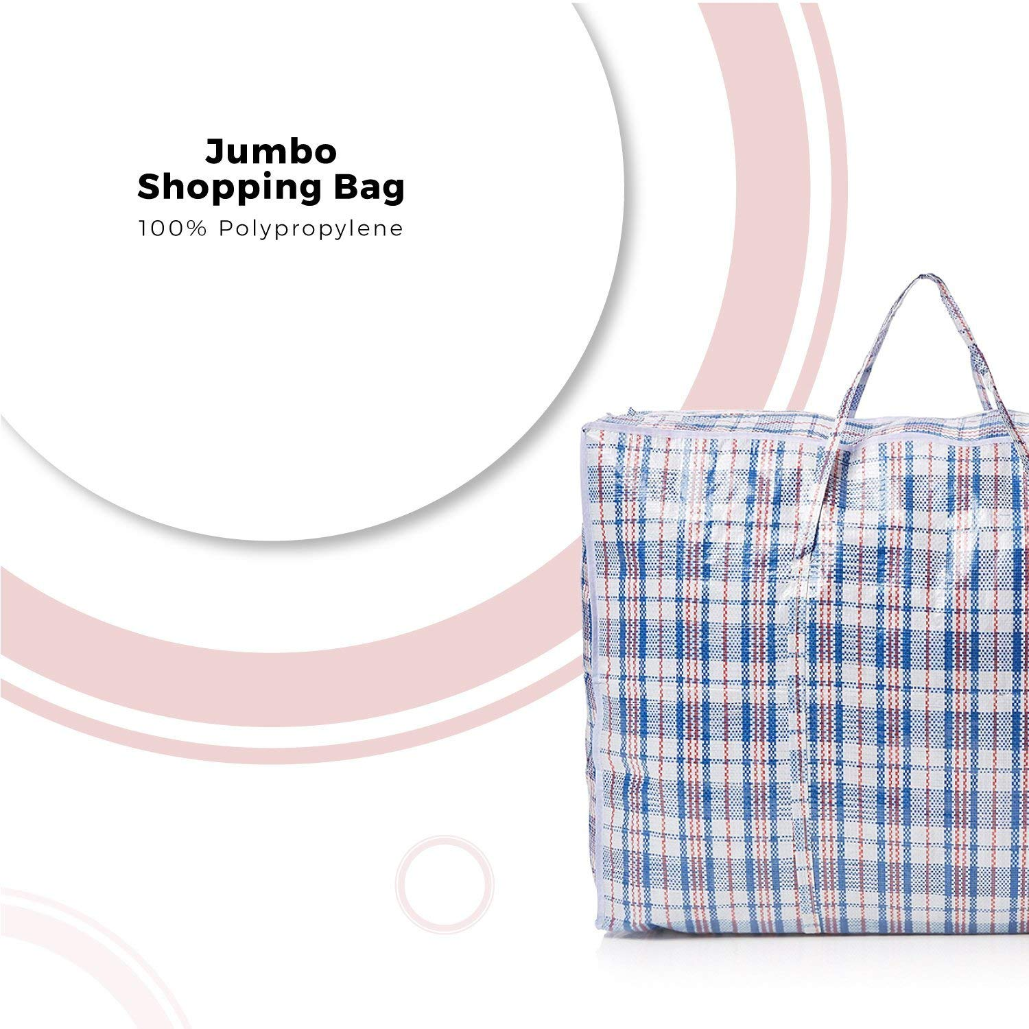 Large Laundry Bags And Storage Bag With Zips Perfect For Travelling Storage Shopping And Moving House Packing Reusable and Waterproof 3 Pack