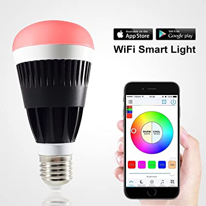 D & O Lighting Bombilla LED inteligente WiFi (compatible con iPhone, iPad, teléfono