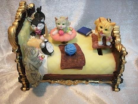 Caja de música Musicbox gato de 14 cm de gatitos de gatos de caja de diseño
