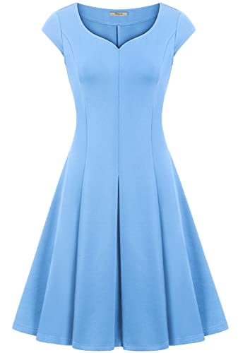 Bebonnie Women Sweetheart Fit and Flare Wedding Bridesmaid Swing Dress