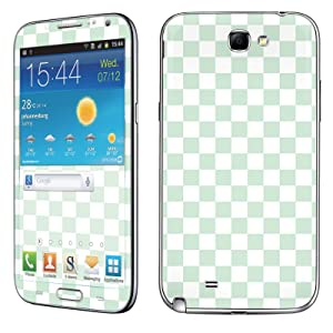 Samsung [Galaxy Note 2] Phone Skin - [SkinGuardz] Full Body Scratch Proof Vinyl Decal Sticker with [WallPaper] - [Mint Checkers] for Samsung Galaxy [Note 2]