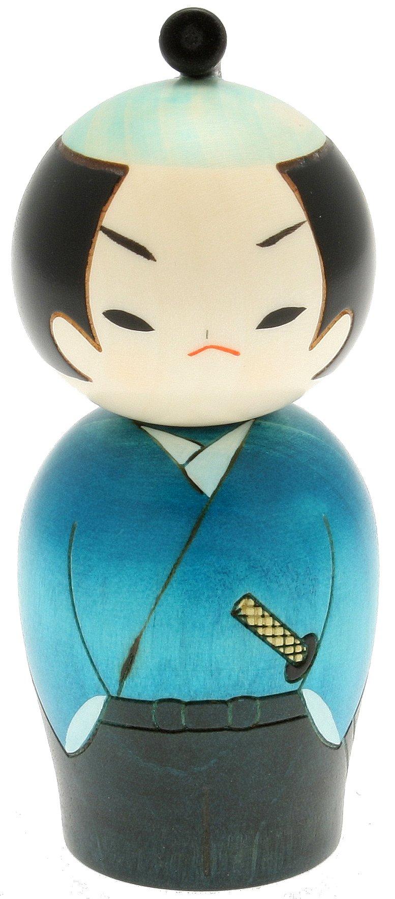 Usaburo Japanese Kokeshi Doll, Yuji The Ronin