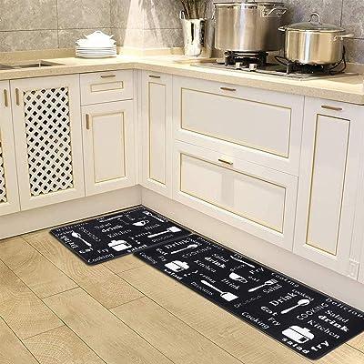 """Anti Fatigue Kitchen Floor Mats Set Of 2 Cushioned Com A 18/""""X27/""""+18/""""X48/"""" Mens"""