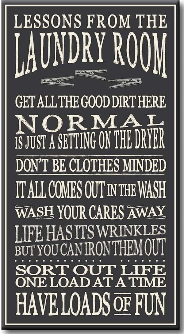 My Word! My Laundry Room - 8.5 x 16, Dark Grey with White Lettering