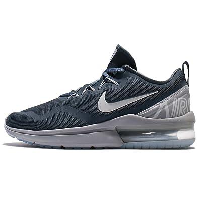 6bc776942cfef9 Nike Mens AA5739-403 Men s Air Max Fury Running Shoes Blue Fox Pure Platinum