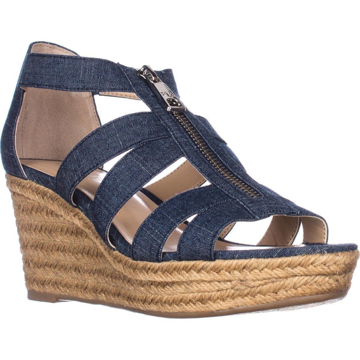Lauren by Ralph Lauren Womens Kelcie Fabric Open Toe Casual Espadrille Sandals B06Y2GKS6G 8 B(M) US Blue