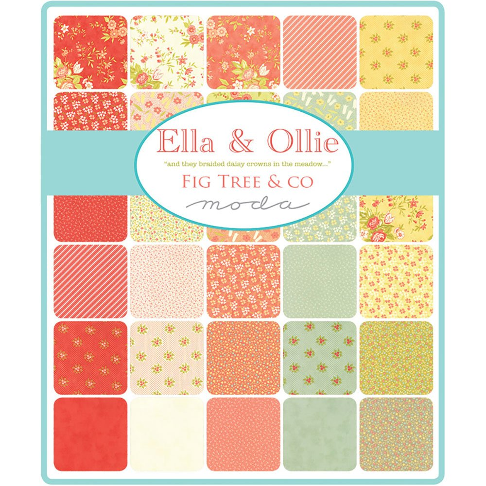 Ella /& Ollie Charm Pack by Joanna Figueroa of Fig Tree Quilts; 42-5 Precut Fabric Quilt Squares