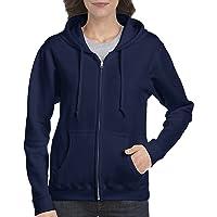 Gildan Womens Full Zip Hooded Sweatshirt Long Sleeve Hooded Sweatshirt