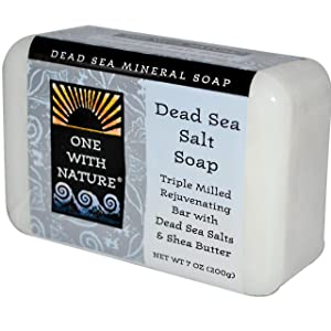 One With Nature Mineral Soap, Dead Sea Salt, 7 Ounce