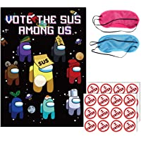 WOOACME Among Us Party Pin Game - Vote The Sus Among Us for Among Us Party Decorationgs