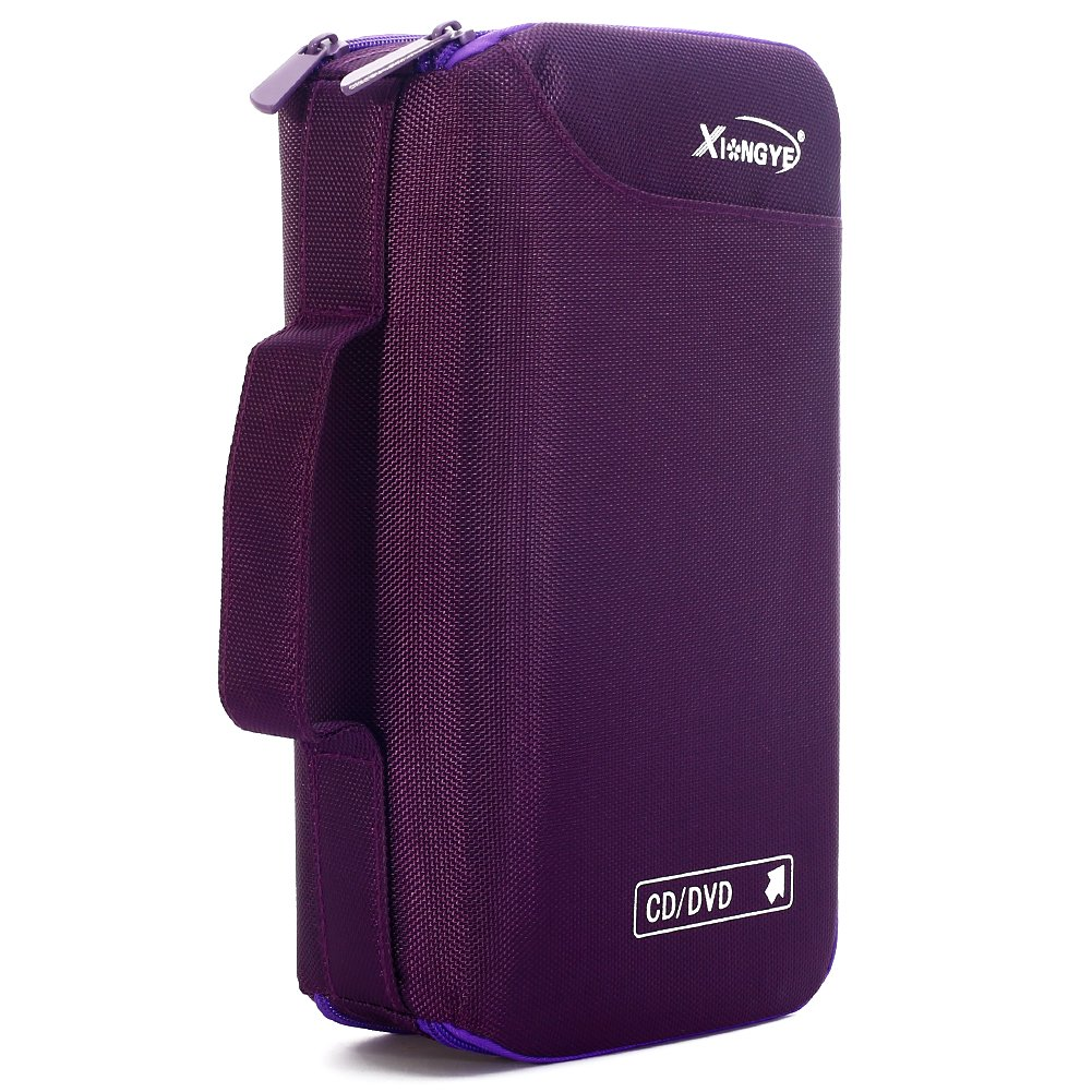 96 Disc Capacity CD/DVD Cases Holder,Wallet,Storage Binder,Made for High grade Oxford cloth(purple)