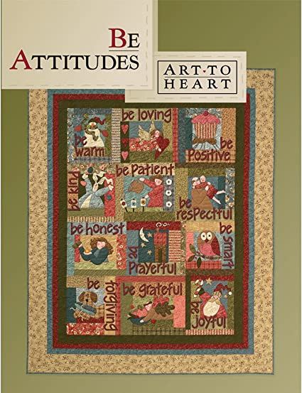 Sewing /& Quilting Patterns NEW BE ATTITUDES Softcover Book From Art To Heart