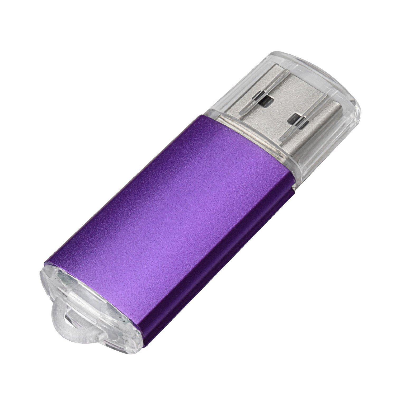 5pcs USB Flash Drive USB 2.0//3.0/Memory Stick unidad de memoria pen drive azul//morado//rosa//verde//naranja morado 128MB
