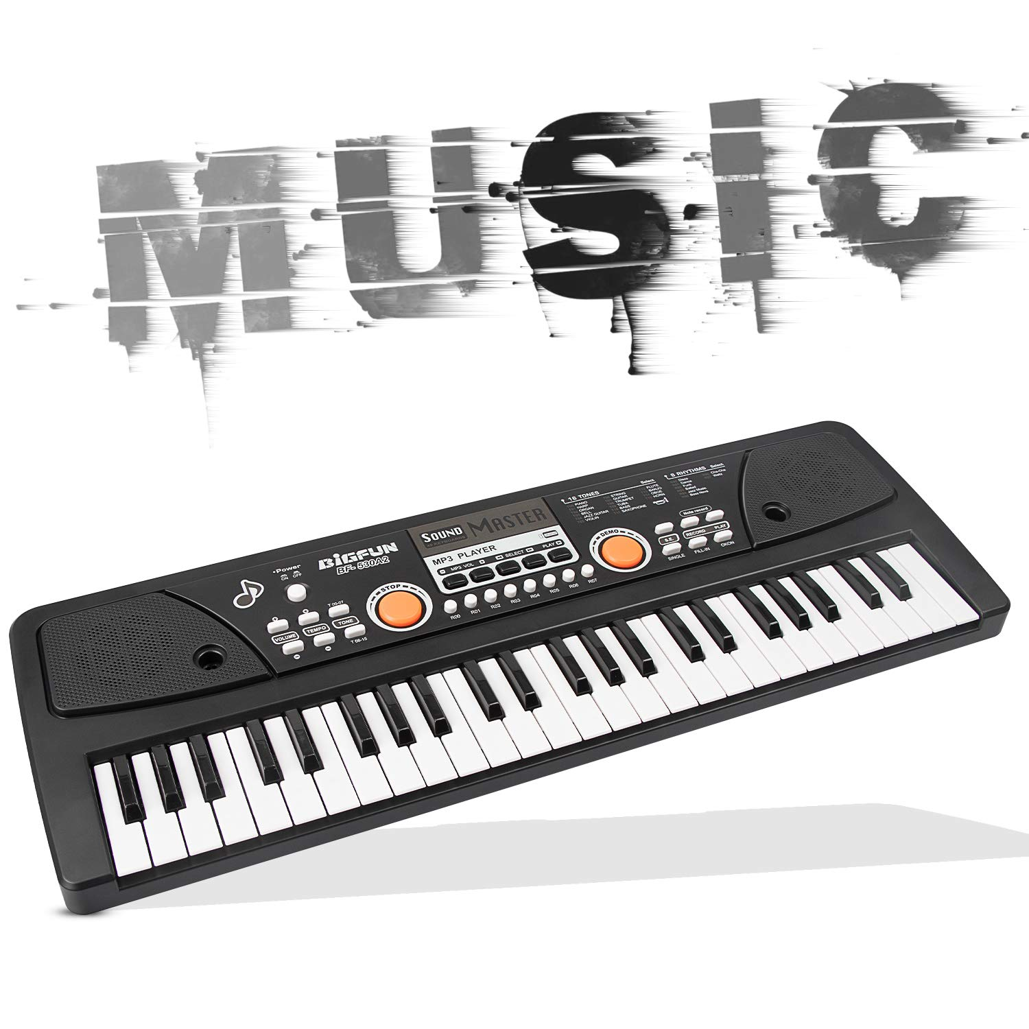 AIMEDYOU 49 Keys Piano Keyboard for Kids Multifunction Portable Piano Electronic Keyboard Music Instrument Birthday Xmas Day Gifts for Kids by AIMEDYOU (Image #3)