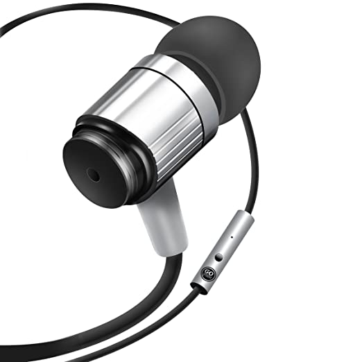 Review GOgroove Durable Heavy Duty Earbuds (Silver) - Ergonomic In-Ear Earphones w/ Rugged Cable, Microphone, & On Board Controls - Noise Isolation & Reinforced Metal Driver Housing
