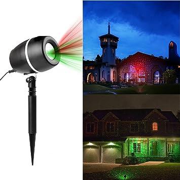 efecto de luces led proyector proyector led navidad luz rojo verde efectos lmpara foco exterior