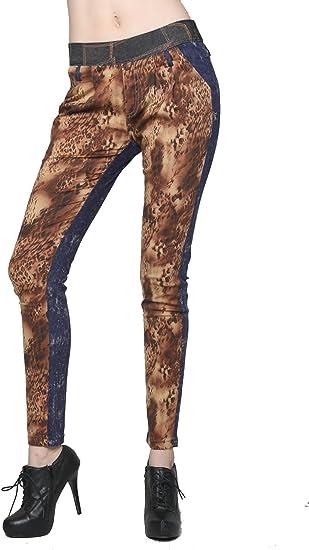 Yelete Women/'s Safari Printed Leggings