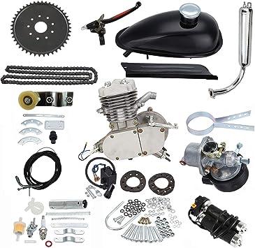 sthus 80cc Bike 2 Stroke Gas Engine 3 Hole Chain Tension Motorized Bicycle Black
