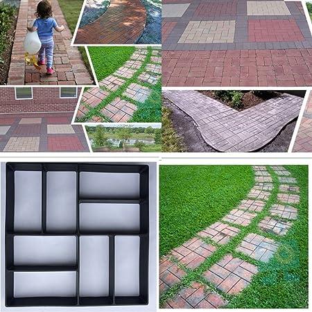 leoboone DIY Patrones Irregulares/rectangulares Pavimento Personalizado Hormigón Ladrillo Piedra Jardín Decorativo Exterior Césped Fabricante, Negro: Amazon.es: Jardín