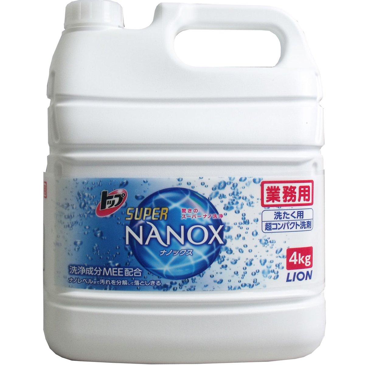 ライオン 業務用洗濯洗剤 トップ スーパーナノックス NANOX 4KgX3本 中性洗剤 B078FPHS4T