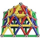 FUNCOCO 157 Pcs Magnetic Building Sticks Building Blocks Set, DIY Educational Toys Magnetic Blocks Sticks Stacking Toys