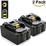 [2 Pack] Energup 18V 5000mAh Li-ion Batterie de Remplacement pour Makita BL1815 BL1830 BL1840 BL1850 LXT400 194205-3 194309-1