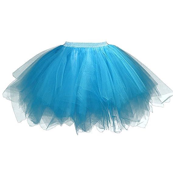 Feoya Falda Plisada Corta de Tul Princesas Danza Ballet Tutú Tutu ...