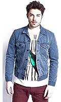 Levis Slim Trucker Veste en jeans grayson (bleu)